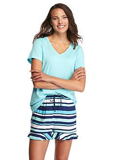 HUE Pier Stripe Boxer Pajama Set