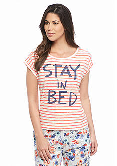 HUE Stay In Bed Stripe Tee