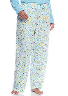 HUE Plus Size Dot Pallet Pajama Pants