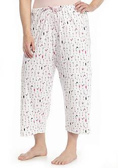 HUE Plus Size Printed Capri Pant