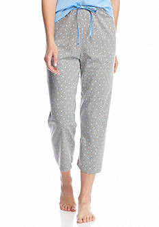 HUE Plus Size Mini Scribble Capri Pajama Pants