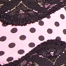 Women: Panties Sale: Pink Sky Black New Directions Intimates Love of Lace Tanga - L192414