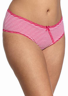 New Directions Intimates Plus Size Cross Over Lace Hi-Cut Hipster - L90015X