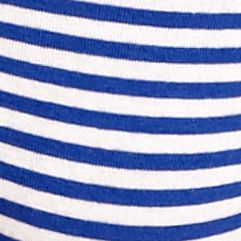 New Directions®: Tuba Blue Stripe New Directions Cross Over Lace Cotton Hipster