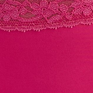 Women: Panties Sale: Fiery Pink New Directions Intimates Lace Trim Thong