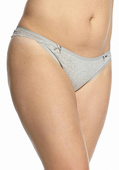 Honeydew Intimates Plus Size Nicki Cotton Lace Thong - 590218X