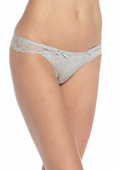 Honeydew Intimates Nicki Cotton Lace Thong - 590218