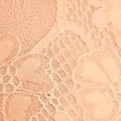 Designer Bras: Pastel Orange Free People Galloon Lace Halter Bra - F763O915