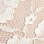 Luxury Lingerie: Pink/Ivory Free People Galloon Cross Dye Racerback Bra - OB409418