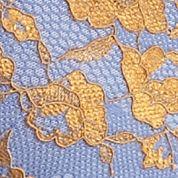 Luxury Lingerie: Perwinkle/Mustard Free People Galloon Cross Dye Racerback Bra - OB409418
