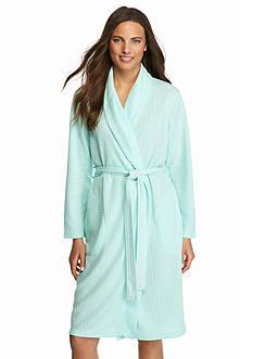 Kim Rogers Waffle Knit Shawl Robe