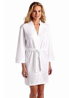Kim Rogers Houndstooth Kimono Wrap Robe