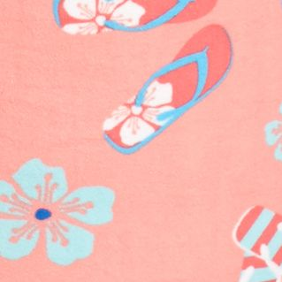 Bathrobes For Women: Sugar Coral Kim Rogers Flip Flip Short Terry Zip Robe