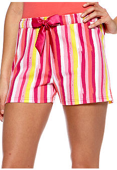 ND Intimates Striped Knit Sleep Short