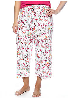 ND Intimates Plus Size Flamingo Print Capri Pajama Pant