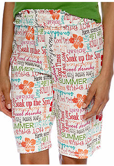 ND Intimates Script Print Bermuda Sleep Short