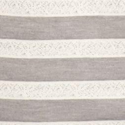 Womens Sleep Shirts: Gray Heather New Directions Intimates Short Sleeve Tee with Pom Trim