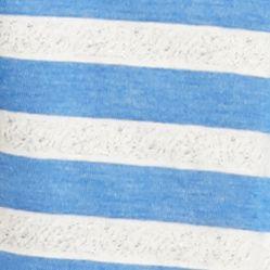 Womens Sleep Shirts: Blue Heather New Directions Intimates Short Sleeve Tee with Pom Trim