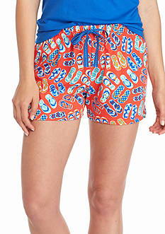 New Directions Intimates Red Flip Flop Knit Boxers