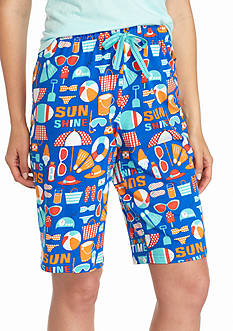 New Directions Intimates Summertime Fun Knit Bermuda Shorts