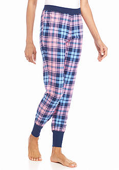New Directions Intimates Pink Plaid Jogger
