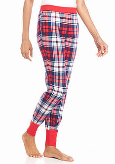 New Directions Intimates Red Plaid Jogger