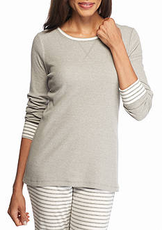 New Directions Intimates Long Sleeve Gray Tee