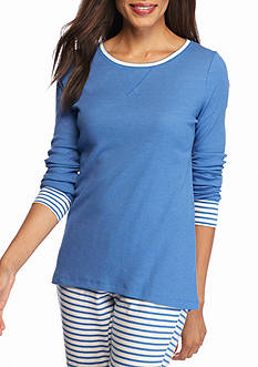 New Directions Intimates Long Sleeve Blue Tee