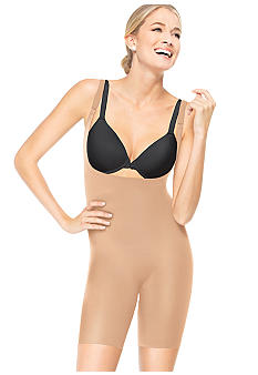 ASSETS Red Hot Label BY SPANX Silhouette Serums Open Bust Mid-Thigh Body Shaper - 1647
