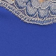 Women's Bikini Underwear: Delta Blue/Gray ND Intimates Lace Trim Bikini - B91192P