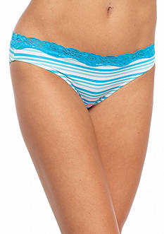 New Directions Intimates Printed Lace Trim Bikini - B91193P