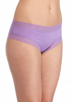 New Directions Intimates Lace Trim Solid Cheeky Hipster