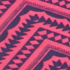 Women's Hipster Panties: Pink Nitecap/Chevron New Directions Intimates Printed Lace Trim Hipster - H91277P