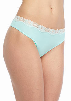 New Directions Intimates Lace Trim Thong - T91120P