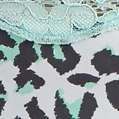 Women: Thong Sale: Ocean Mint Animal ND Intimates Printed Lace Trim Thong - T91136P
