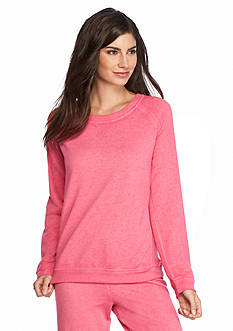 New Directions Intimates Long Sleeve Vintage Wash Sweatshirt