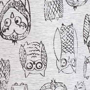 Womens Sleep Shirts: Gray New Directions Intimates Silky Jersey Printed Tank