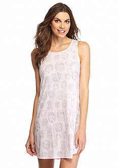 New Directions Intimates Sleeveless Owl Sleepshirt