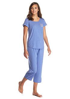 Kim Rogers Short Sleeve Tab Capri Pajama Set