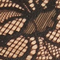 Full Figure Bras: Black Perfects Australia Delightfuls Pretty Lace Soft Cup Bra - 14USC051