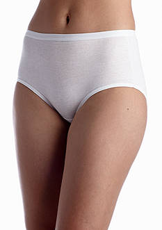 Hanes Platinum Cotton Creations White Brief 4 Pack - 40C4B1