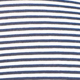 Hanes: Straight On Navy/White Stripe Hanes Cotton Bikini - 42COTT