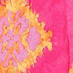 Sleepwear for Women: Contemporary: Pink Print Layla Geo Tie Dye Chemise