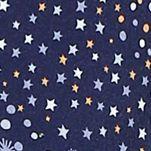 Womens Nightwear: Navy Print Layla Henley Sleepshirt