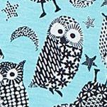Womens Nightwear: Aqua Print Layla Henley Sleepshirt