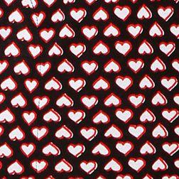 Juniors Pajama Pants: Black Heart Print Layla Printed Ruffle Hem Pants