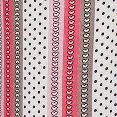 Womens Nightwear: Pink Stripe Layla Printed Ruffle Hem Pants