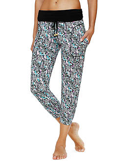 Layla Printed Banded Capris