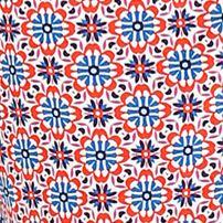 Bathrobes For Women: White Print Layla Border Kimono Wrap Robe