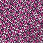 Women's Robes Short: Pink Print Layla Border Kimono Wrap Robe